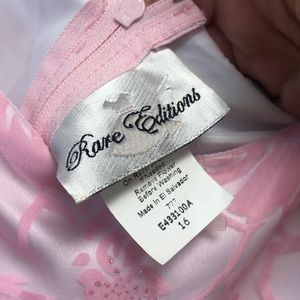 Rare Editions Dresses - NEW Rare Editions Girls Pink Floral Formal Dress